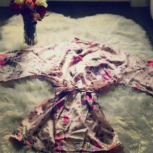 Women Floral Satin Robe